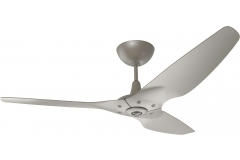 "Haiku Luxe Series Ceiling Fan: 60"", Satin Nickel Full Appearance, Universal Mount"