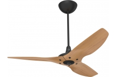 Haiku Indoor Ceiling Fan: 132 cm, Caramel Bamboo, Universal Mount: Black