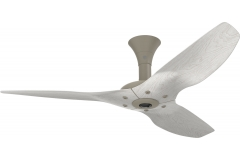 "Haiku Luxe Series Ceiling Fan: 52"", Aluminum White, Low Profile Mount: White"