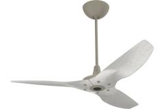 "Haiku Outdoor Ceiling Fan: 52"", Driftwood Aluminum, Universal Mount: Satin Nickel"