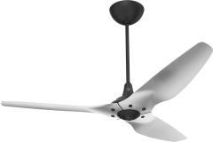 "Haiku Luxe Series Ceiling Fan: 60"", Brushed Aluminum,  Universal Mount: Black"