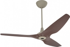 "Haiku Indoor Ceiling Fan with Uplight: 60"" Cocoa Bamboo, Universal Mount: Satin Nickel"