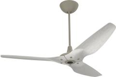 "Haiku Outdoor Ceiling Fan: 60"", Driftwood Aluminum, Universal Mount: Satin Nickel"