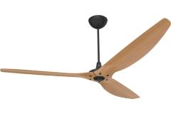 Haiku Indoor Ceiling Fan: 210 cm, Caramel Bamboo, Universal Mount: Black