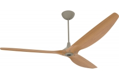 "Haiku Indoor Ceiling Fan with Uplight: 84"" Caramel Bamboo, Universal Mount: Satin Nickel"