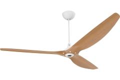 "Haiku Indoor Ceiling Fan with Uplight: 84"" Caramel Bamboo, Universal Mount: White"