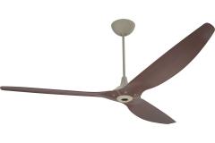 "Haiku Indoor Ceiling Fan with Uplight: 84"" Cocoa Bamboo, Universal Mount: Satin Nickel"