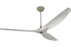 "Haiku Outdoor Ceiling Fan: 84"", Driftwood Aluminum, Universal Mount: Satin Nickel"