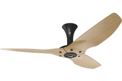 "Haiku Indoor Ceiling Fan: 52"", Caramel Bamboo, Low Profile Mount: Black"