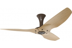 "Haiku Indoor Ceiling Fan: 52"", Caramel Bamboo, Low Profile Mount: Oil-Rubbed Bronze"