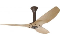 "Haiku Indoor Ceiling Fan: 52"", Caramel Bamboo, Standard Mount: Oil-Rubbed Bronze"