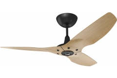 "Haiku Indoor Ceiling Fan: 52"", Caramel Bamboo, Universal Mount: Black"