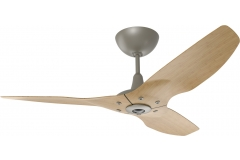 "Haiku Indoor Ceiling Fan: 52"", Caramel Bamboo, Universal Mount: Satin Nickel"
