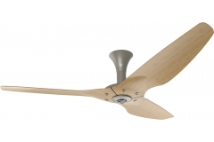 "Haiku Indoor Ceiling Fan: 60"", Caramel Bamboo, Low Profile Mount: Satin Nickel"