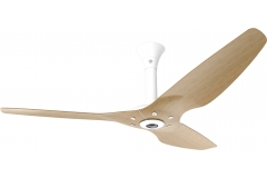 "Haiku Indoor Ceiling Fan: 60"", Caramel Bamboo, Standard Mount: White"