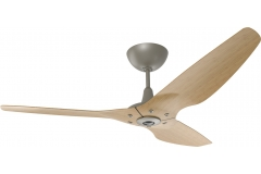 "Haiku Indoor Ceiling Fan: 60"", Caramel Bamboo, Universal Mount: Satin Nickel"