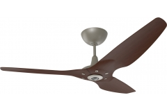 "Haiku Indoor Ceiling Fan: 60"", Cocoa Bamboo, Universal Mount: Satin Nickel"