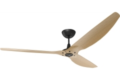 Haiku Ceiling Fan 2.1m, Caramel Bamboo, Universal Mount: Black