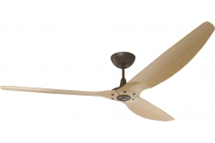 "Haiku Indoor Ceiling Fan: 84"", Caramel Bamboo, Universal Mount: Oil-Rubbed Bronze"
