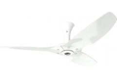 "Haiku Luxe Series Ceiling Fan: 52"", Aluminum White, Low Profile Mount: White"