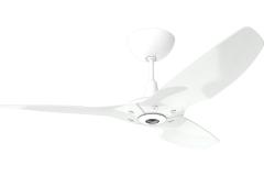 "Haiku Luxe Series Ceiling Fan: 52"", Aluminum White, Universal Mount: White"