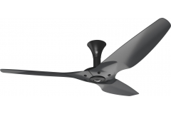 "Haiku Luxe Series Ceiling Fan: 60"", Aluminum Black, Low Profile Mount: Black"