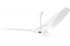 "Haiku Outdoor Ceiling Fan: 60"", White Aluminum, Standard Mount: White"