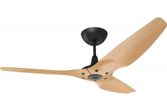 Haiku Outdoor Ceiling Fan 1.5m, Caramel Woodgrain Aluminium, Universal Mount: Black