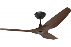 Haiku Outdoor Ceiling Fan 1.5m, Cocoa Woodgrain Aluminium, Universal Mount: Black