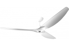 "Haiku Outdoor Ceiling Fan: 84"", Brushed Aluminum, Universal Mount: White"