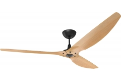 Haiku Outdoor Ceiling Fan 2.1m, Caramel Woodgrain Aluminium, Universal Mount: Black