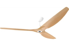 Haiku Outdoor Ceiling Fan 2.1m, Caramel Woodgrain Aluminium, Universal Mount: White