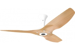 "Haiku Outdoor Ceiling Fan: 52"", Caramel Woodgrain Aluminum, Low Profile Mount: White"