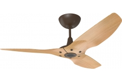 "Haiku Outdoor Ceiling Fan: 52"", Caramel Woodgrain Aluminum, Universal Mount: Oil-Rubbed Bronze"