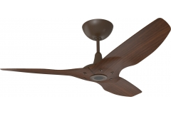 "Haiku Outdoor Ceiling Fan: 52"", Cocoa Woodgrain Aluminum, Universal Mount: Oil-Rubbed Bronze"