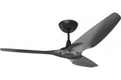 "Haiku Outdoor Ceiling Fan: 60"", Black Aluminum, Universal Mount: Black"