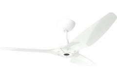 "Haiku Outdoor Ceiling Fan: 60"", White Aluminum, Universal Mount: White"