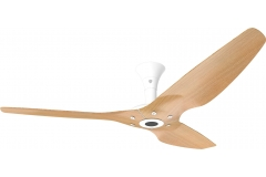 "Haiku Outdoor Ceiling Fan: 60"", Caramel Woodgrain Aluminum, Low Profile Mount: White"