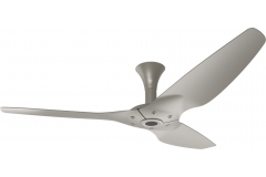 "Haiku Outdoor Ceiling Fan: 60"", Satin Nickel Full Appearance, Low Profile Mount"