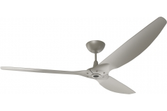"Haiku Outdoor Ceiling Fan: 84"", Satin Nickel Full Appearance, Universal Mount"