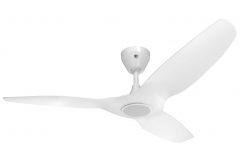 Haiku L Ceiling Fan: 1.3m, White, Universal Mount: White - LED Light Kit Included