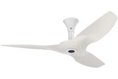 "Haiku Outdoor Ceiling Fan: 52"", Driftwood Aluminum, Low Profile Mount: White"