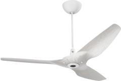 "Haiku Indoor Ceiling Fan: 60"", Aluminum Driftwood, Universal Mount: White"