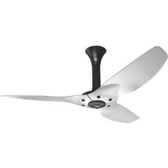 "Haiku Luxe Series Ceiling Fan: 52"", Brushed Aluminum, Standard Mount: Black"