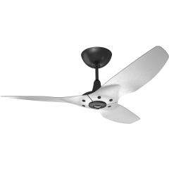 "Haiku Luxe Series Ceiling Fan: 52"", Brushed Aluminum,  Universal Mount: Black"