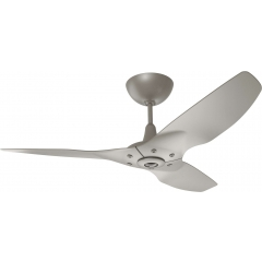 "Haiku Luxe Series Ceiling Fan: 52"", Satin Nickel Full Appearance, Universal Mount"