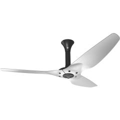 "Haiku Luxe Series Ceiling Fan: 60"", Brushed Aluminum, Standard Mount: Black"
