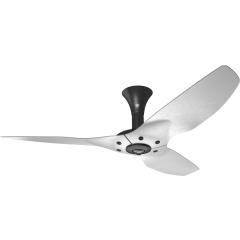 "Haiku Luxe Series Ceiling Fan: 52"", Brushed Aluminum, Low Profile Mount: Black"