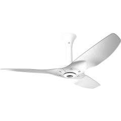 "Haiku Indoor Ceiling Fan: 52"", Brushed Aluminum, Standard Mount: White"