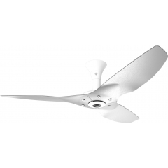 "Haiku Luxe Series Ceiling Fan: 52"", Brushed Aluminum, Low Profile Mount: White"